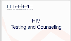 Thumbnail image of Google Slides Presentation of MATEC HIV Testing and Counseling.