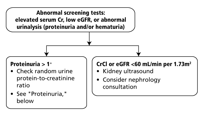 Workup of Abnormal Screening Test Results