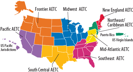 Map of AETCs
