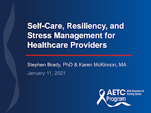 Thumbnail image of Google Slides Presentation of Self-Care, Resiliency, and Stress Management for Healthcare Providers.