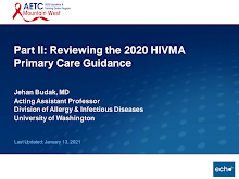 Thumbnail image of Google Slides Presentation of Part II: Reviewing the 2020 HIVMA Primary Care Guidance - Part II.