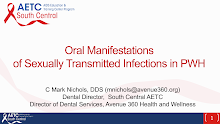 Thumbnail image of Google Slides Presentation of Oral Manifestations of Sexually Transmitted Infections in PWH.