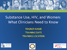Thumbnail image of Google Slides Presentation of Substance Use, HIV, and Women PowerPoint Presentation.