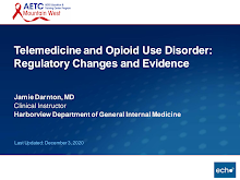Thumbnail image of Google Slides Presentation of Telemedicine and Opioid Use Disorder: Regulatory Changes and Evidence.