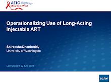 Thumbnail image of Google Slides Presentation of Operationalizing Use of Long-Acting Injectable ART.