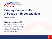 Thumbnail image of Google Slides Presentation of Primary Care and HIV: A Focus on Hypogonadism.