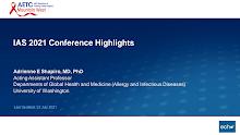 Thumbnail image of Google Slides Presentation of 2021 IAS Conference Highlights.