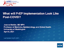Thumbnail image of Google Slides Presentation of What will PrEP Implementation Look Like Post-COVID?.