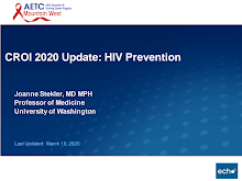 Thumbnail image of Google Slides Presentation of CROI 2020 Review: HIV Prevention.