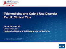 Thumbnail image of Google Slides Presentation of Telemedicine and Opioid Use Disorder Part 2: Clinical Tips.