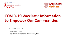 Thumbnail image of Google Slides Presentation of COVID-19 Vaccines: Information to Empower Our Communities.
