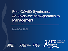 Thumbnail image of Google Slides Presentation of Post COVID Syndrome: An Overview and Approach to Management.