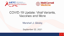 Thumbnail image of Google Slides Presentation of COVID-19 Update: Viral Variants, Vaccines and More.