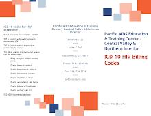Thumbnail image of Google Slides Presentation of HIV ICD 10 billing codes brochure.