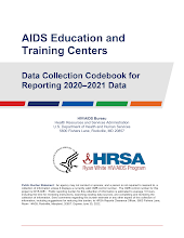 Thumbnail image of Google Slides Presentation of 2020-21 AETC Data Collection Codebook.