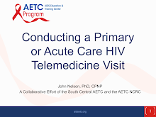 Thumbnail image of Google Slides Presentation of Conducting a Primary or Acute Care HIV Telemedicine Visit.