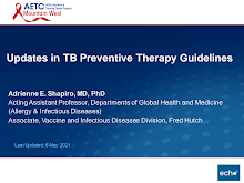 Thumbnail image of Google Slides Presentation of Updates in TB Preventive Therapy Guidelines.