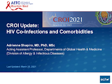 Thumbnail image of Google Slides Presentation of CROI Update: HIV Co-Infections and Comorbidities.