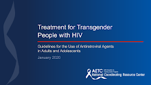 Thumbnail image of Google Slides Presentation of Treatment for Transgender People with HIV.