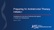 Thumbnail image of Google Slides Presentation of Preparing for Antiretroviral Therapy Initiation.