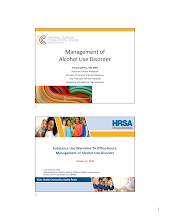 Thumbnail image of Google Slides Presentation of NCCC & HRSA BPHC Management of Alcohol Use Disorder.