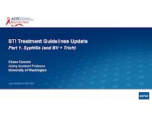 Thumbnail image of Google Slides Presentation of STI Treatment Guidelines Update.